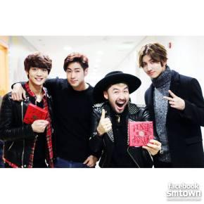 [PICS] 140112 TVXQ avec Minho de SHINee, Noh Hong Chul et Kim So Hyun au MBC 'Show! MusicCore!'