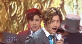 [VID] 140209 TVXQ – « Something » à l'Inkigayo