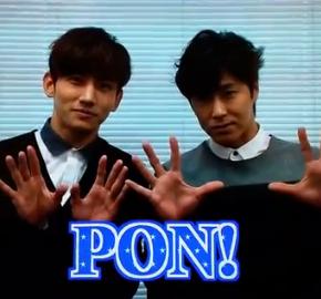 [VID + TRAD] 150105 Tohoshinki dans l'émission PON!