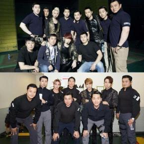 [PIC] 150904 JYJ avec leur équipe de garde du corps lors des concerts au Tokyo Dome en 2013 &2014