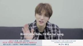 [VID] 171019~20 Jaejoong – Messages pour le '2017 KIM JAE JOONG ASIA TOUR FANMEETING'