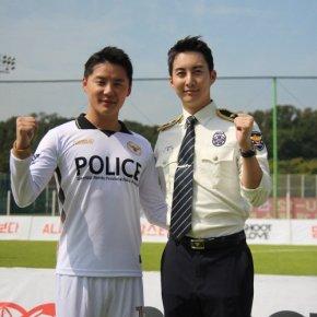 [PIC+VID] 171024 Junsu – Shoot for Love (ft. FC Police du Sud deGyeonggi)